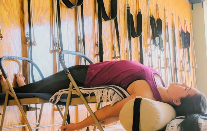 There are many reasons why props are used in yoga. Their use was pioneered by B.K.S Iyengar whose in-depth work with props, people of all ages and health conditions made yoga accessible to all. Props are an aid to be used according to the needs of the moment, the asana (posture) and the student.
